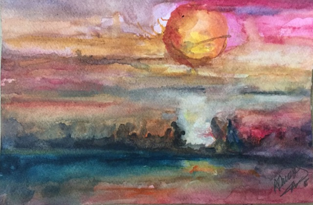 Sunrise - Watercolor